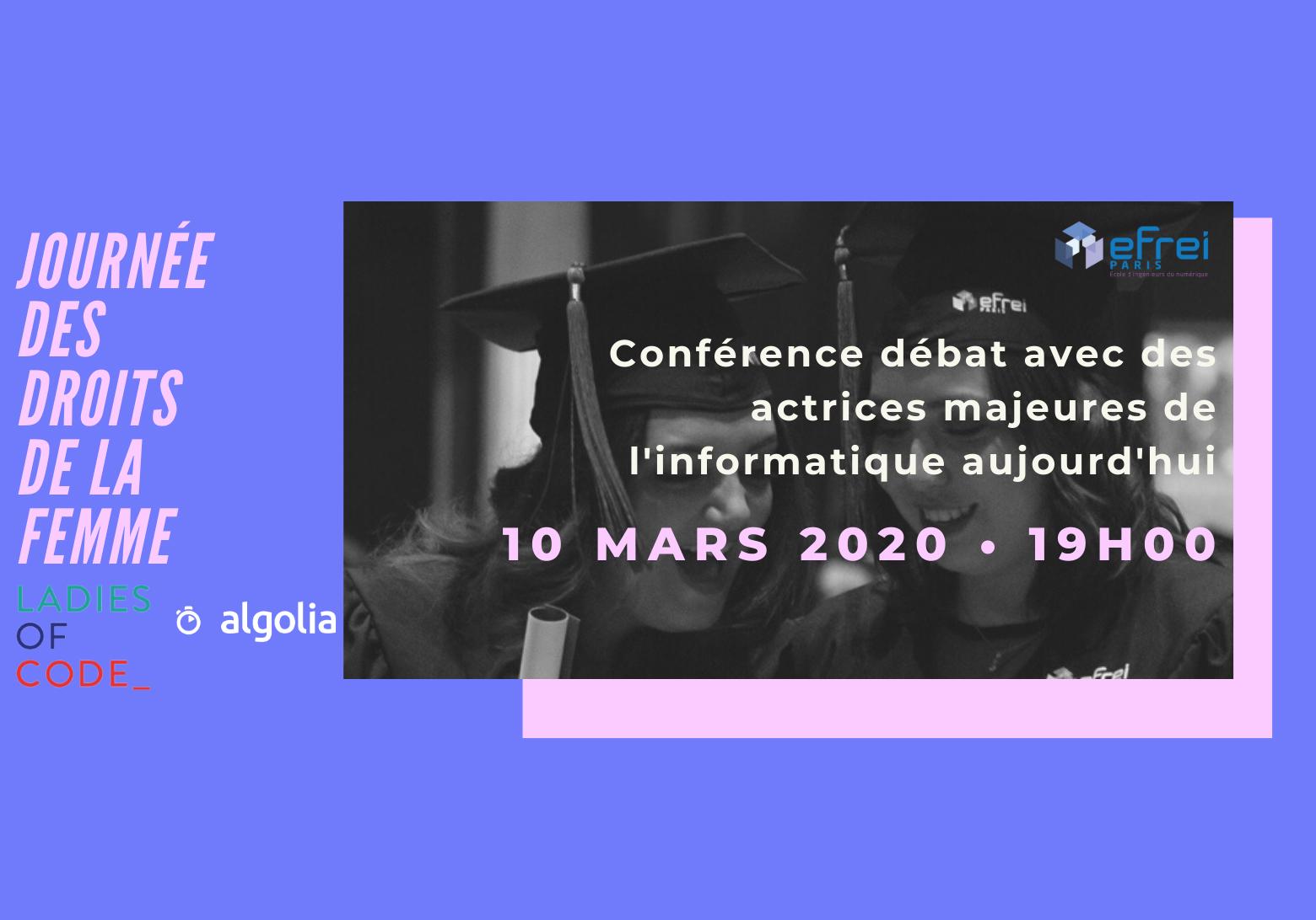 JOURNEE DES DROITS DE LA FEMME Conférence bannière-500