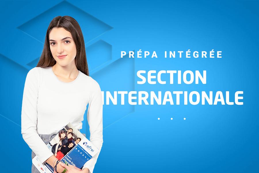 Prépa intégrée section internationale